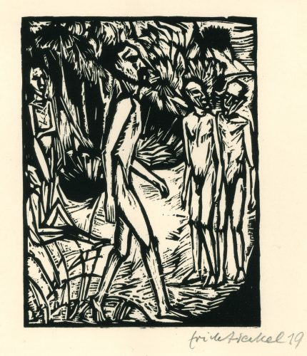 Männer am Strand by Erich Heckel at