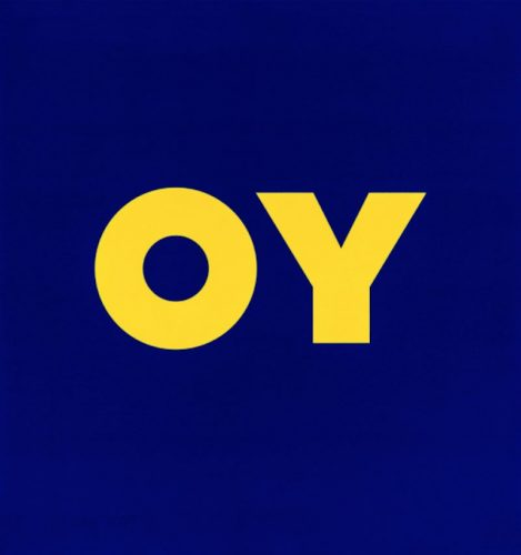 Oy by Deborah Kass at Oliver Cole Gallery