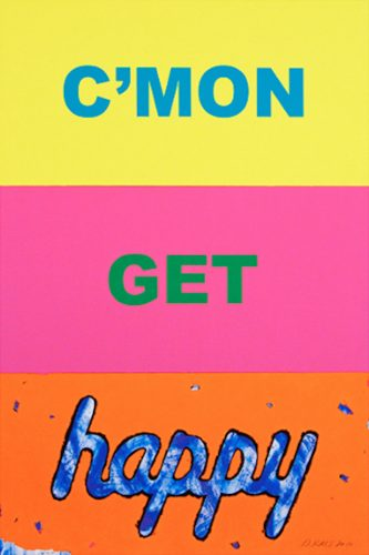 C'mon Get Happy by Deborah Kass at Oliver Cole Gallery