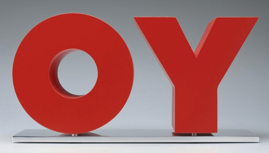 OY/YO (Red) by Deborah Kass at Oliver Cole Gallery