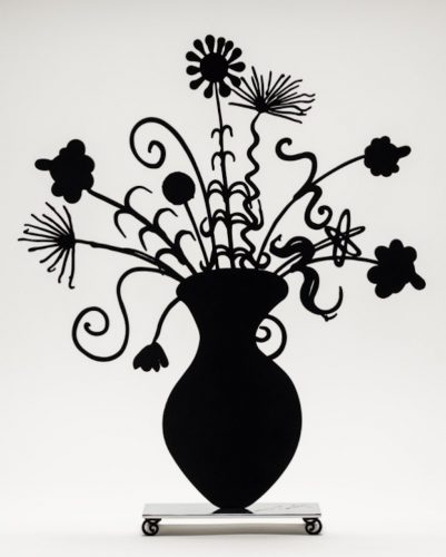 Flores Black by Kenny Scharf at
