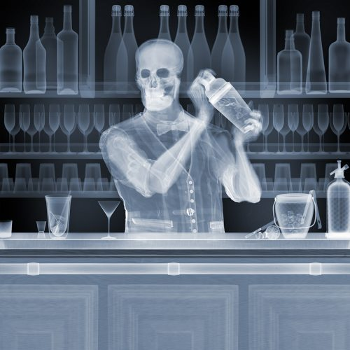 Bartender by Nick Veasey at