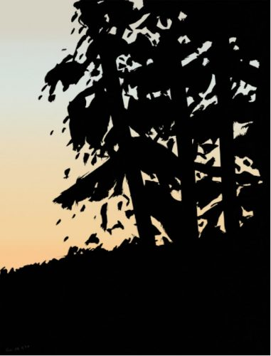 Sunet 1 by Alex Katz at Oliver Cole Gallery