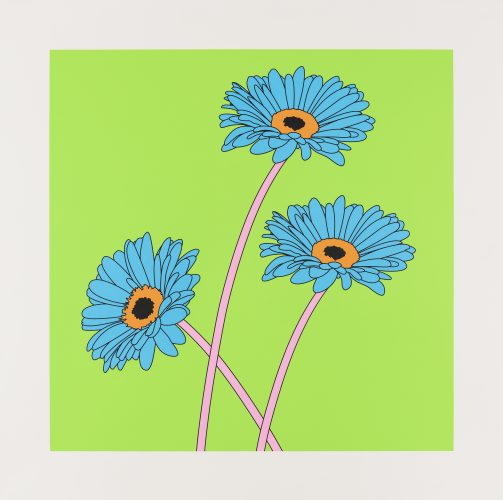 Michael Craig-Martin – Gerberas by The Help Portfolio at The Help Portfolio