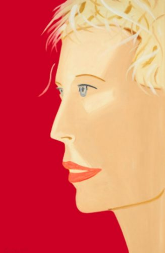Coca Cola Girl (Red) by Alex Katz at
