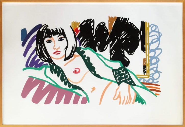 Monica In Robe With Motherwell by Tom Wesselmann at