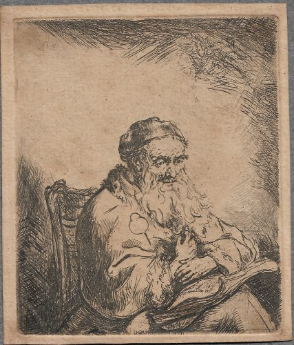 The Old Man with a Leaf of Trefoil on His Coat by Ferdinand Bol at