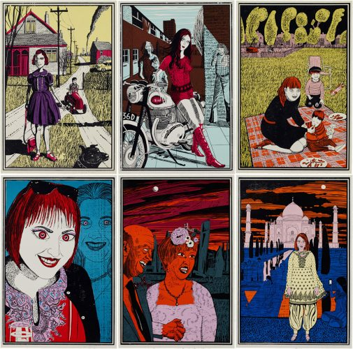 Six Snapshots of Julie by Grayson Perry RA at Grayson Perry RA