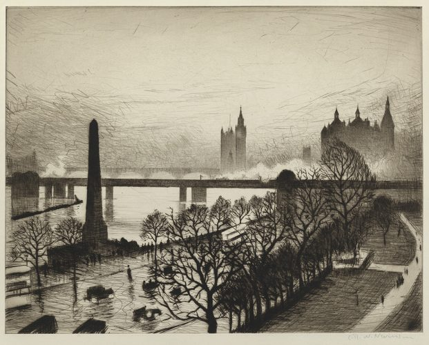 London Bridges by C. R. W. Nevinson at