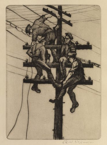 Nerves of an Army by C. R. W. Nevinson at