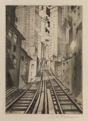 New York: An Abstraction by C. R. W. Nevinson at