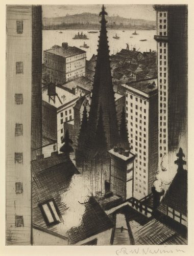 The Temples of New York by C. R. W. Nevinson at