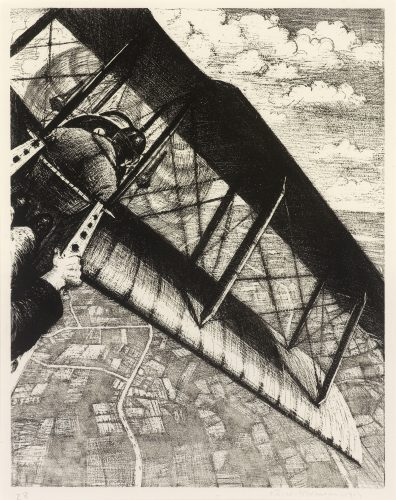 Banking at 4000 Feet by C. R. W. Nevinson at