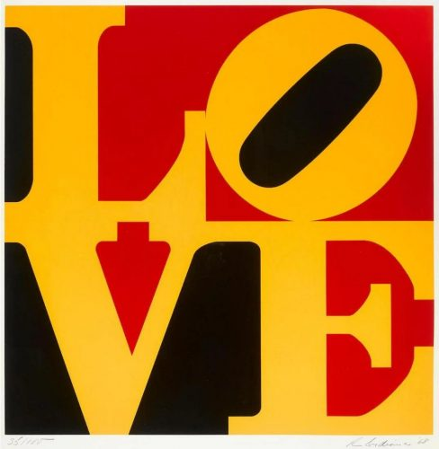 The German LOVE by Robert Indiana at