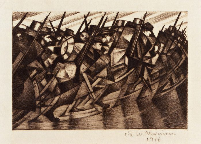 Returning to the Trenches by C. R. W. Nevinson at