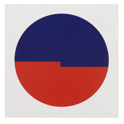 Tondo: Azul y Rojo by Carmen Herrera at Universal Limited Art Editions (ULAE)