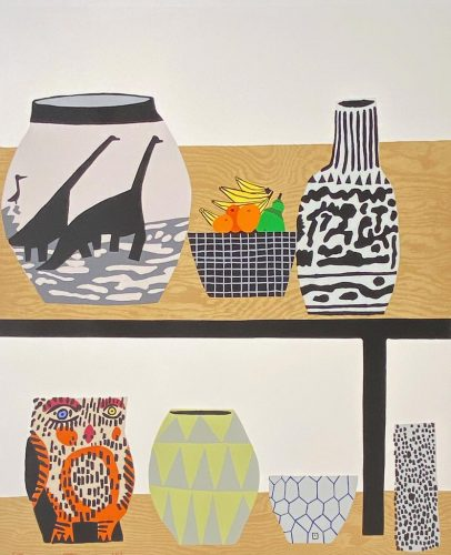 Shelf Still Life by Jonas Wood at Hamilton-Selway Fine Art