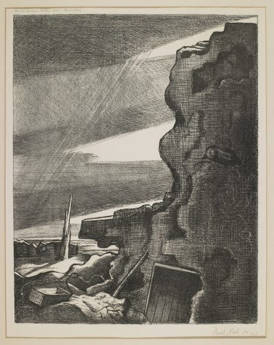 German Double Pill-Box by Paul Nash at