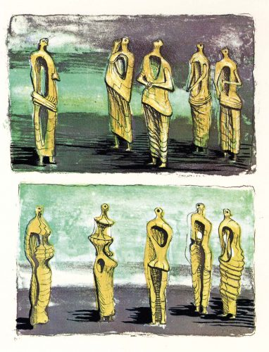 Standing Figures by Henry Moore at