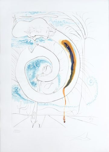 Le Cercle viscéral du cosmos. (The Visceral Circle of the Cosmos.) by Salvador Dali at