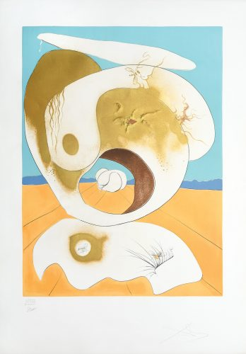 Vision planétaire et scatologique. (Planetary and Scatalogical Vision.) by Salvador Dali at