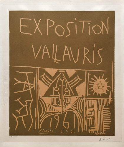 Exposition Vallauris 1961. by Pablo Picasso at Pablo Picasso
