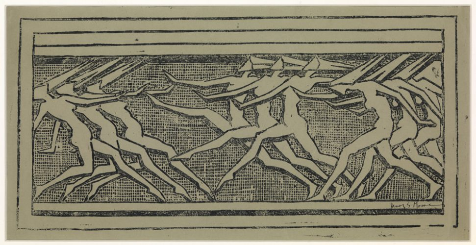 Frieze of Dancing Figures by Henry Moore at