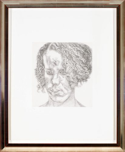Girl with Fuzzy Hair by Lucian Freud at