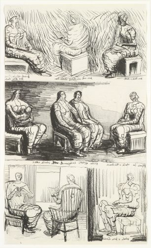 Seated Figures by Henry Moore at