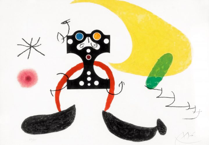 Le Cosmonaute by Joan Miro at