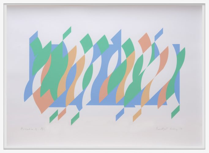 Arcadia 4. by Bridget Riley at