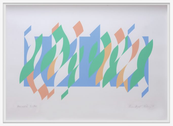 Arcadia 5. by Bridget Riley at