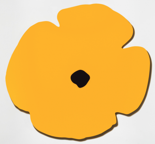 Yellow Wall Poppy, Aug 13, 2020 by Donald Sultan at Donald Sultan