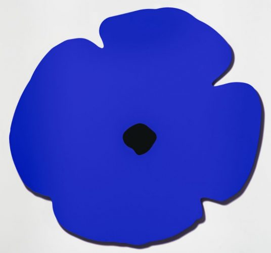 Blue Wall Poppy, Aug 13, 2020 by Donald Sultan at Donald Sultan