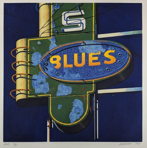 Blues by Robert Cottingham at