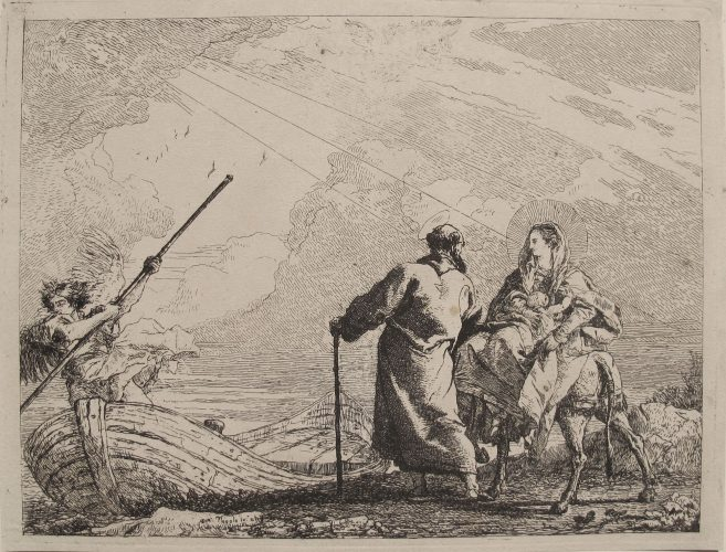 The Holy Family at the Bank of the River by Giovanni Domenico Tiepolo at