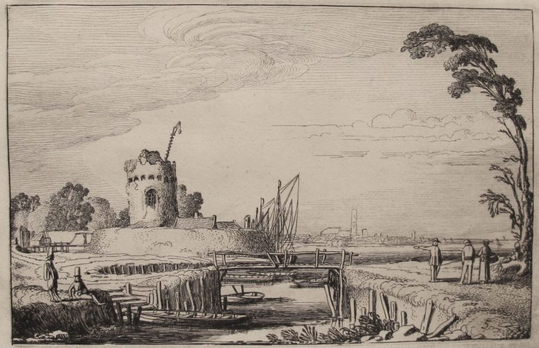 The Old Tower as a Lighthouse by Jan Van de Velde II at