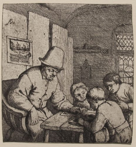 The Schoolmaster by Adriaen van Ostade at R. S. Johnson Fine Art (IFPDA)