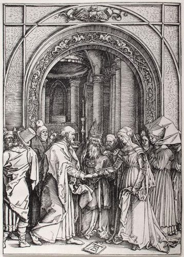 Betrothal of the Virgin by Albrecht Durer at