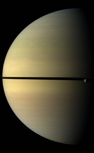 'Saturn and Rhea' 2009 Science Photo Library Print by Science Photo Library Archive at