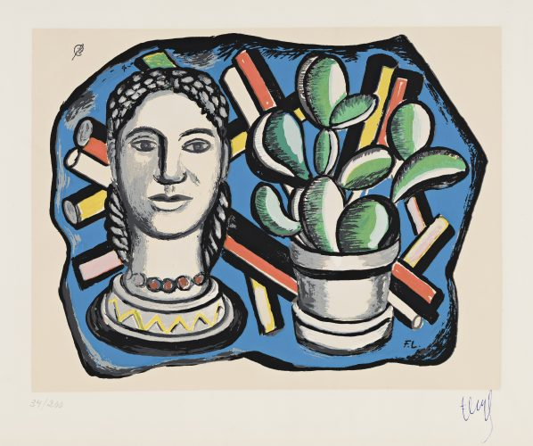 Tête et Cactus by Fernand Leger at