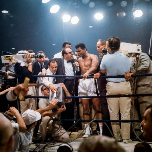Ali Victorious, Ali vs. Liston II by Neil Leifer at