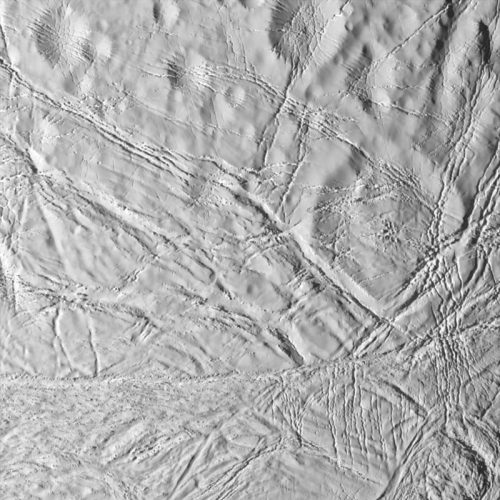 'Saturn's Moon Enceladus Surface' 2005 Science Photo Library Print by Science Photo Library Archive at