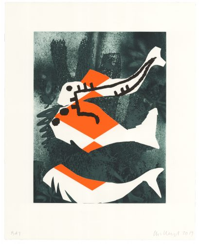 The Fish Can't Hear You by Charline von Heyl at Universal Limited Art Editions (ULAE)