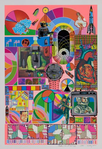 Bash (rose pink) by Eduardo Paolozzi at