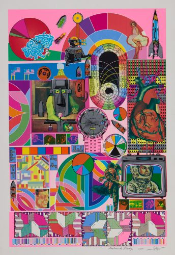 BASH (neon pink) by Eduardo Paolozzi at