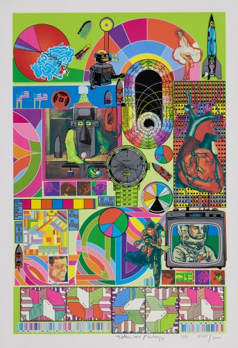 BASH (lime green) by Eduardo Paolozzi at