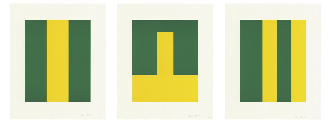 Verde y Amarillo by Carmen Herrera at Universal Limited Art Editions (ULAE)