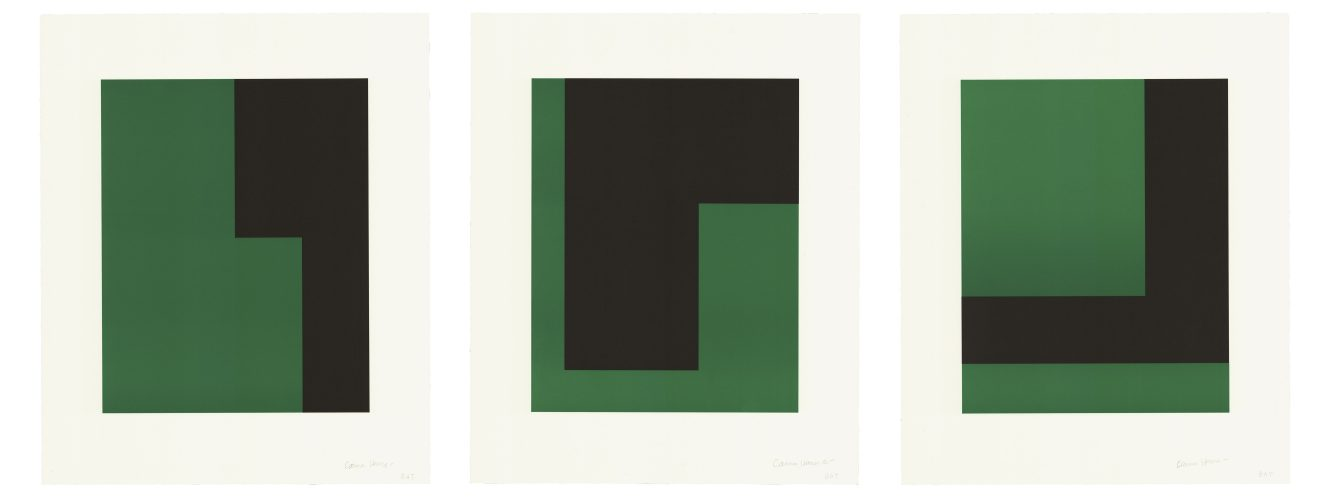 Verde y Negro by Carmen Herrera at Universal Limited Art Editions (ULAE)
