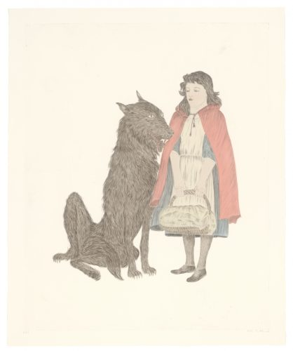 Friend by Kiki Smith at Universal Limited Art Editions (ULAE)